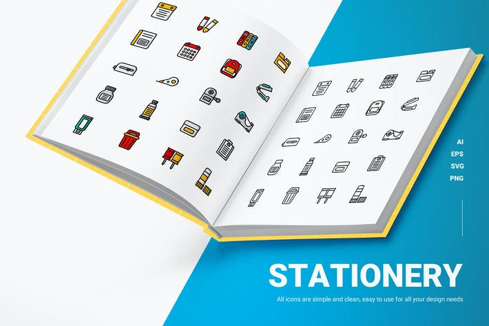 Briefpapier - Icons