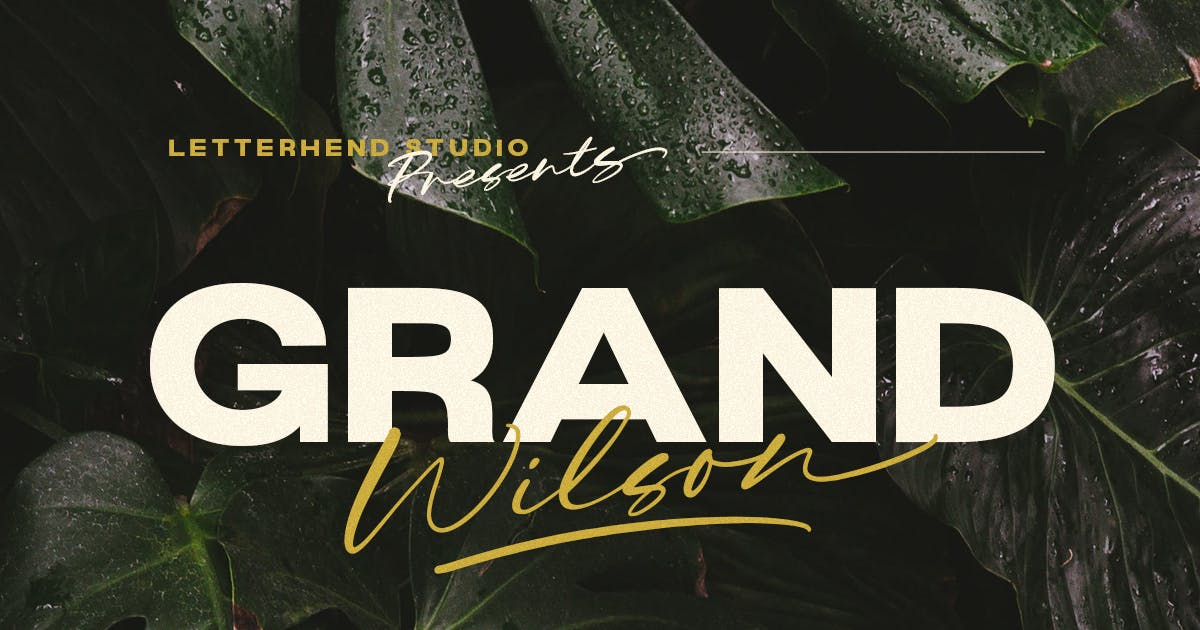 Download Grand Wilson - Font Duo by letterhend