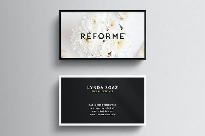 elegant pastel business card template by eightonesixstudios on