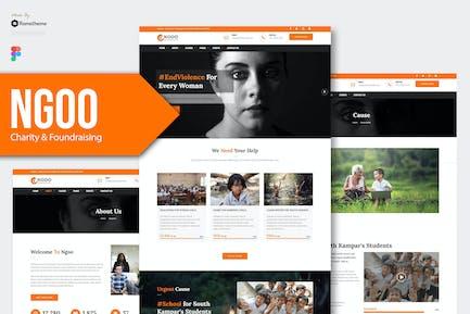 NGOO - Charity, Non-profit Figma Template RS