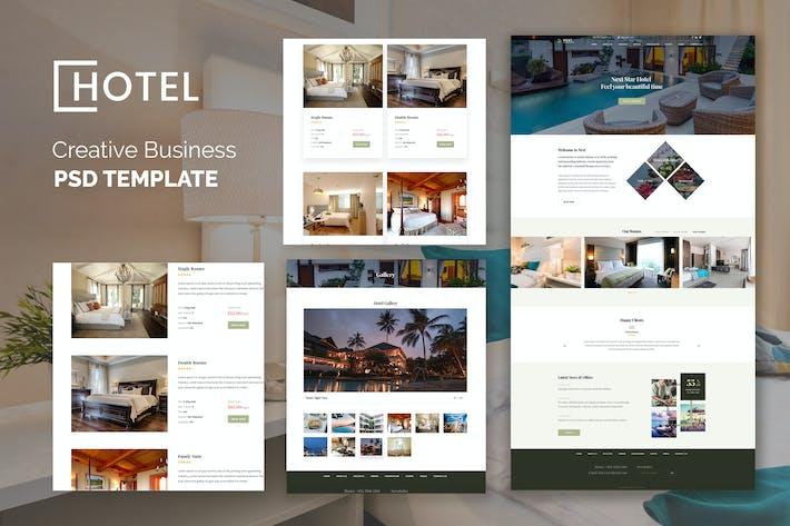Thumbnail for Отель Resort Бронирование Роскошный Творческий PSD Шаблон