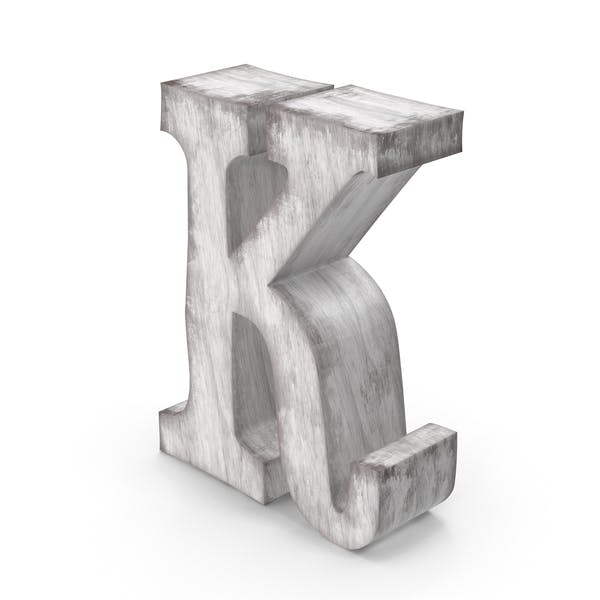 Wooden Decorative Letter K