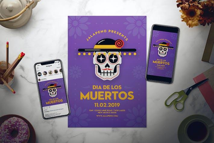 Thumbnail for Dia De Los Muertos Flyer Set