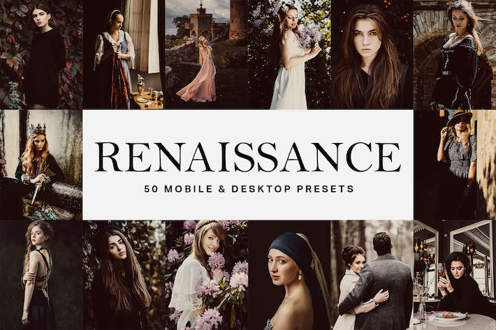 Thumbnail for 50 Renaissance Lightroom Presets and LUTs