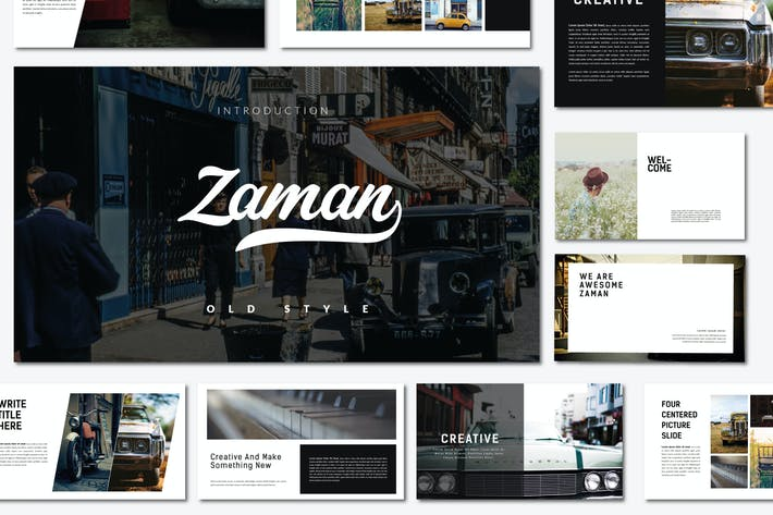 Thumbnail for Zaman | Google Slides