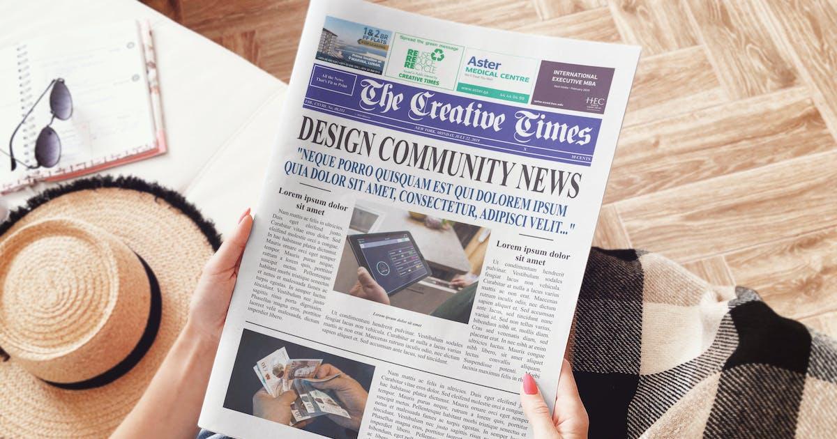 Download Newspaper Mockup by StreetD