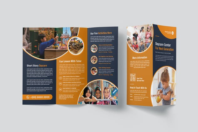 Daycare Center Trifold Brochure