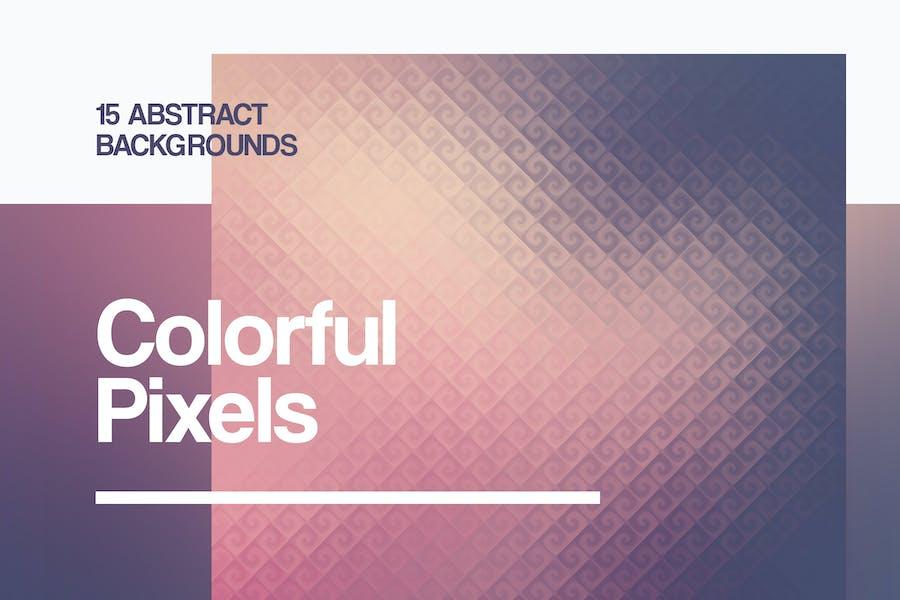 Spiral Pixel Backgrounds