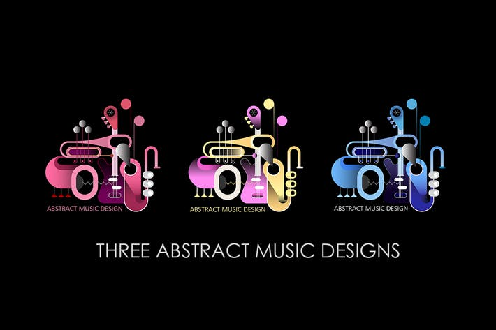 Thumbnail for 3 Concept Music Designs vector illustration