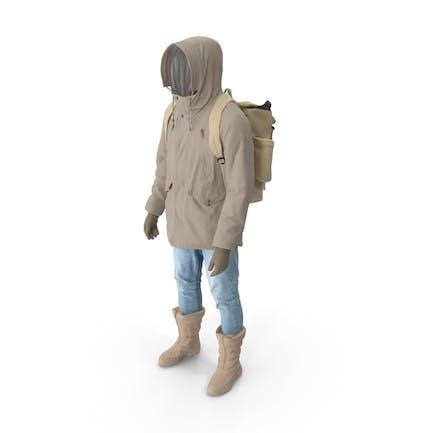 Men's Pants Boots Pullover Coat Gloves Backpack Beige
