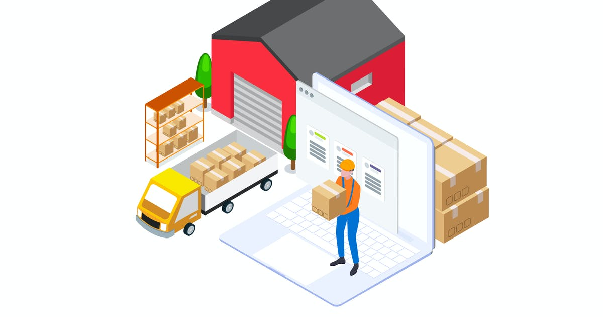 Download Goods Management by Finance Isometric - FV by angelbi88