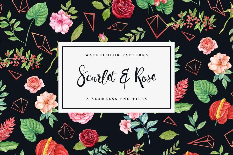 Scarlet & Rose - Nahtlose Muster