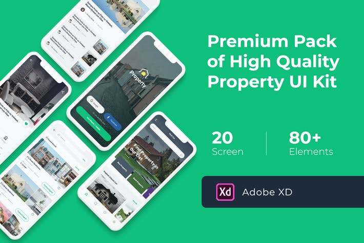 Thumbnail for Property Mobile UI KIT for XD