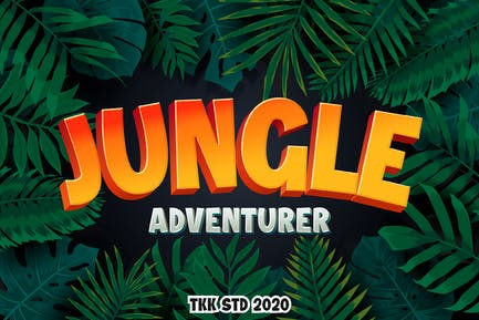 Jungle Adventurer - Gaming font