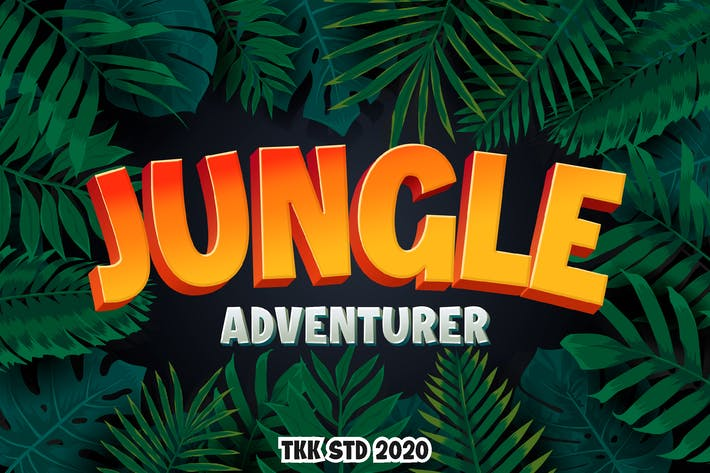 Thumbnail for Jungle Adventurer - Fuente para juegos