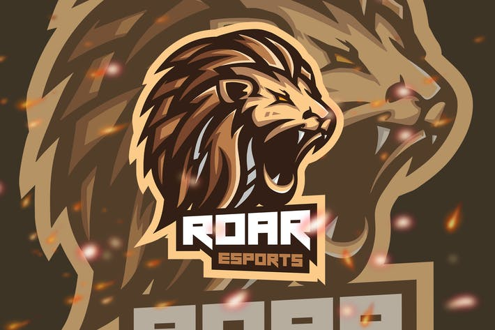 Thumbnail for Roar Animal Esport Gaming Logo