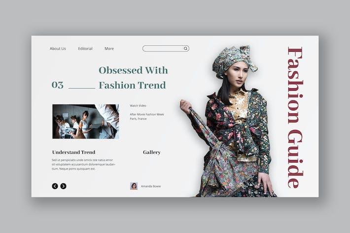 Thumbnail for Urban Fashion Hero Header PSD Template