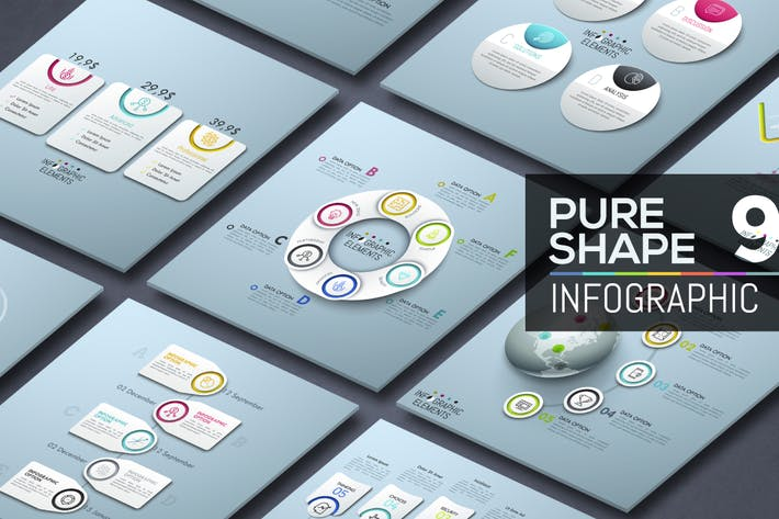 Cover Image For Pure Shape Infographic. Part 9