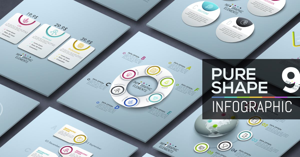 Download Pure Shape Infographic. Part 9 by Andrew_Kras