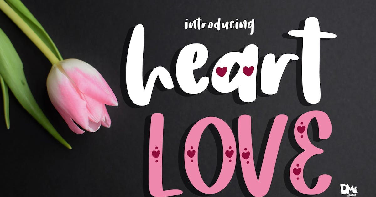 Download Heart Love - Crafty Lovely Font Duo by DmLetter