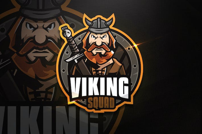 Thumbnail for Viking Squad - Mascot & Esport Logo