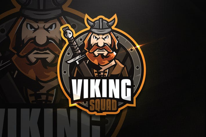 Thumbnail for Viking Squad - Mascot & Esport Logo