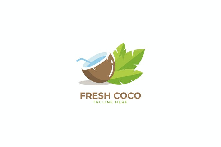 Thumbnail for Fresh Coco Water Logo Template