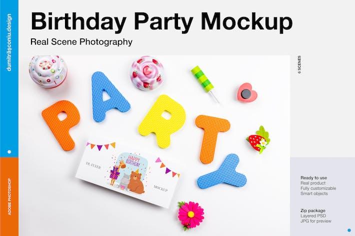 Thumbnail for Birthday Party Invitation Mockup