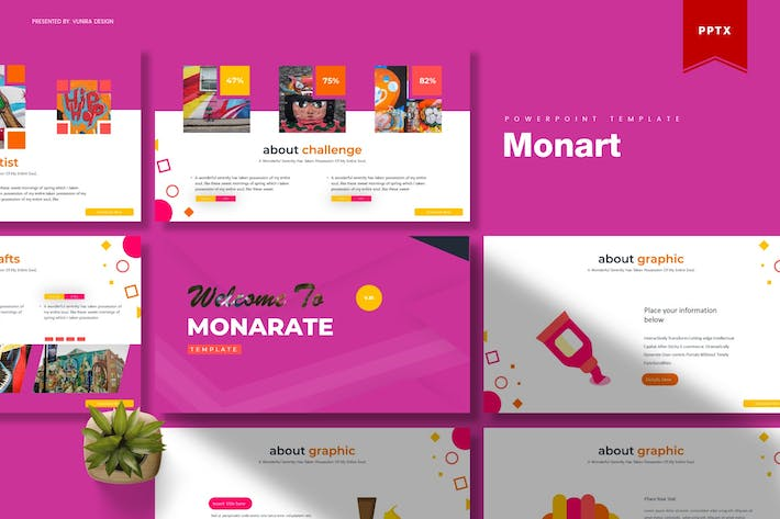 Thumbnail for Monart | Powerpoint Template