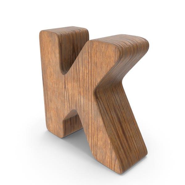 K Деревянная буква