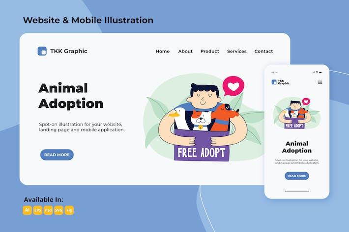 Thumbnail for Animal adoption web and mobile