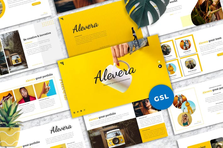 Alevera - Creative Googleslide Template