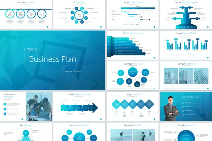 Thumbnail for Business Plan Keynote Template
