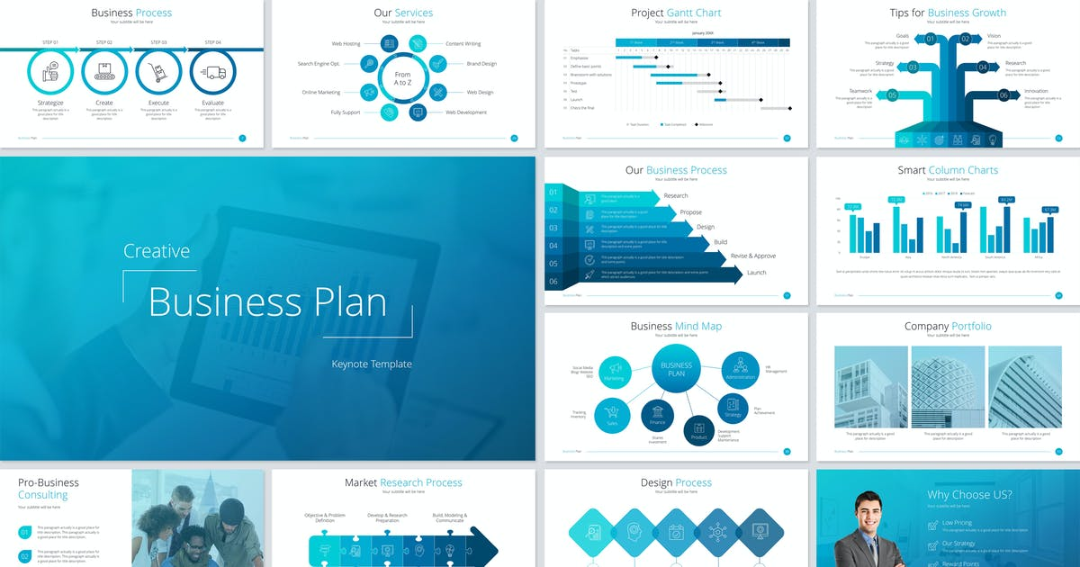 Business Plan Keynote Template by Unknow