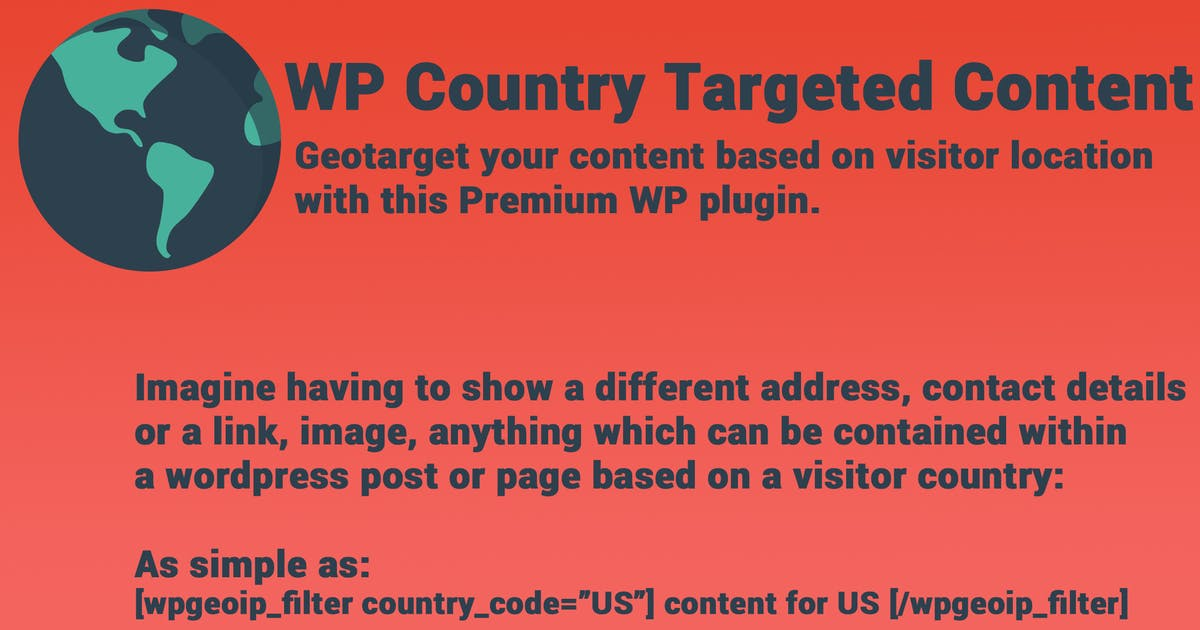 Download WP Country Targeted Content by crivion