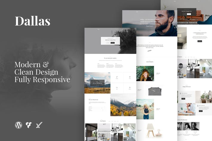 Thumbnail for Dallas Minimal Portfolio Business WordPress Theme