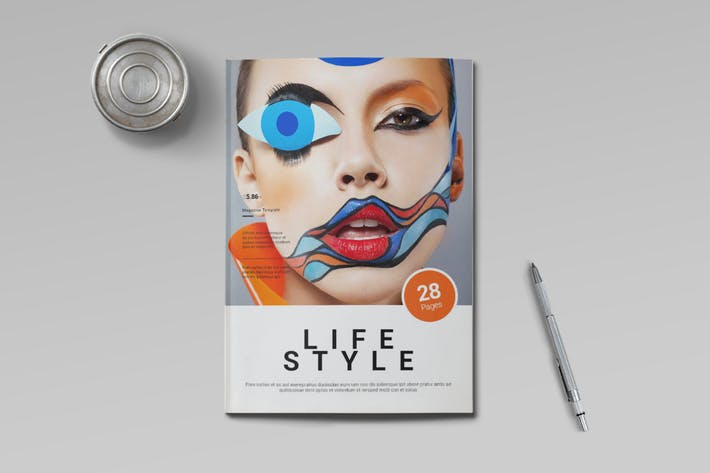 Cover Image For Life Style Magazine Template