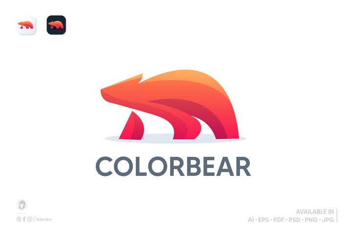 Thumbnail for Orange bear logo template