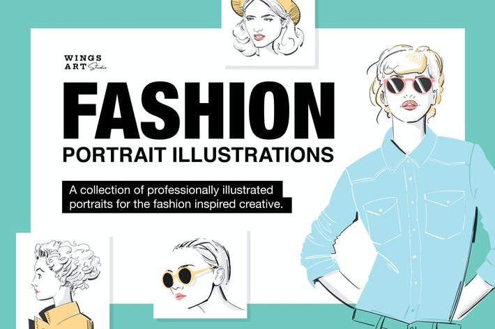 Thumbnail for Fashion Portrait Illustrations
