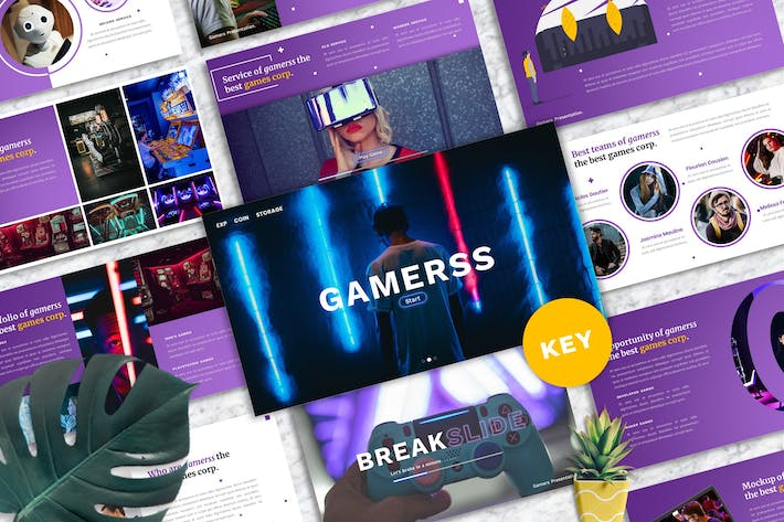 Thumbnail for Gamerss - Games Business Keynote Template