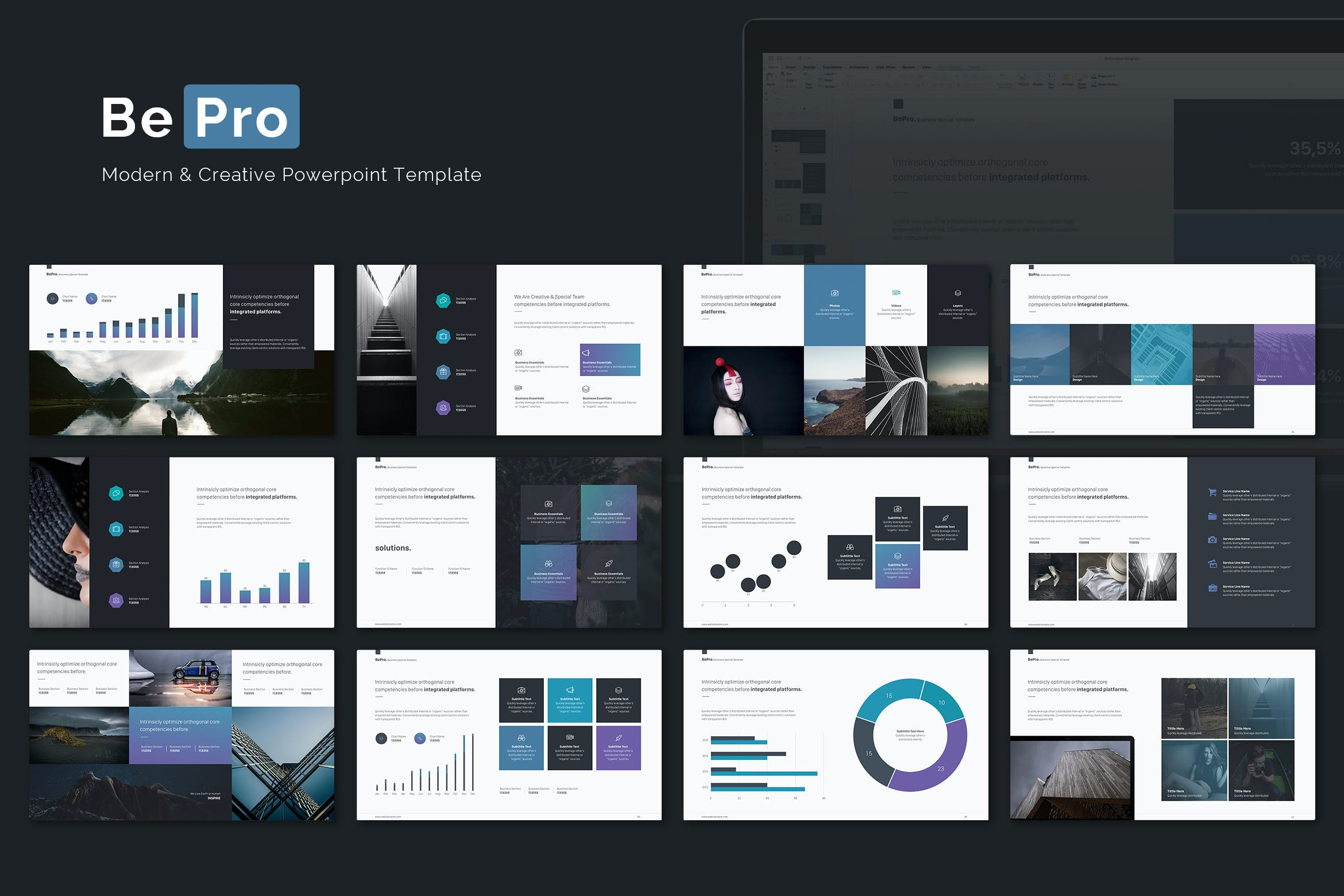 Bepro powerpoint business template by simplesmart on envato elements alramifo Choice Image