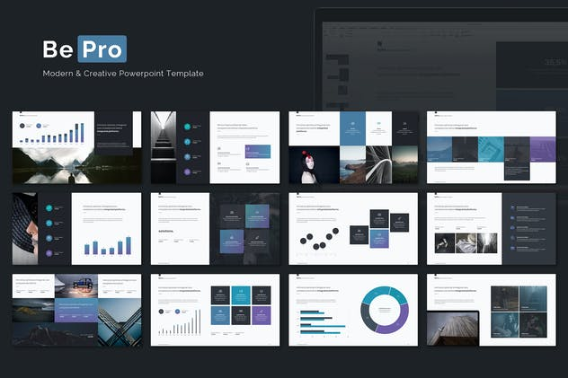 Bepro powerpoint business template by simplesmart on envato elements toneelgroepblik Image collections