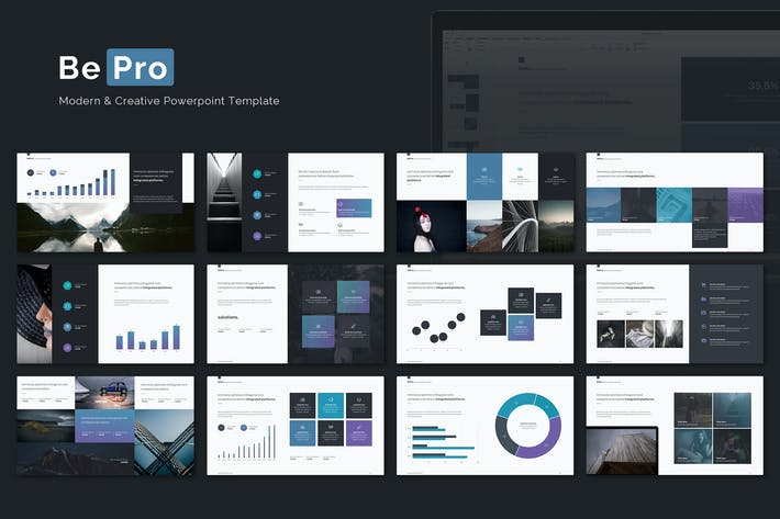 Bepro powerpoint business template by simplesmart on envato elements cover image for bepro powerpoint business template wajeb Images
