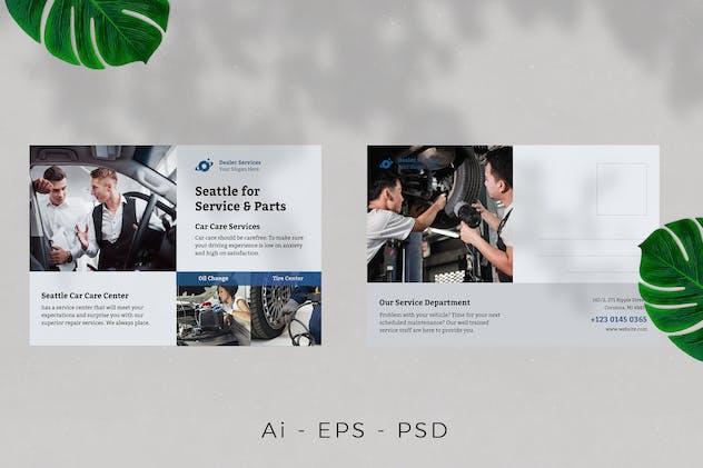 Car Service Postcard Design