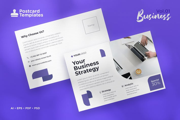 Thumbnail for Postcard Template Vol.01 Business