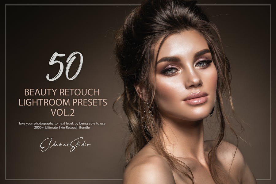 50 Beauty Retouch Lightroom Presets - Vol. 2
