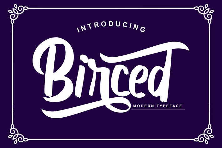Thumbnail for Birced | Modern Typeface Font