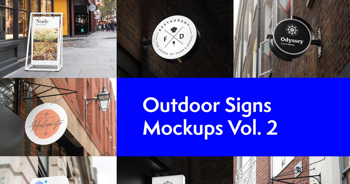 Download Outdoor Signs Mockups Vol. 2 by Genetic96