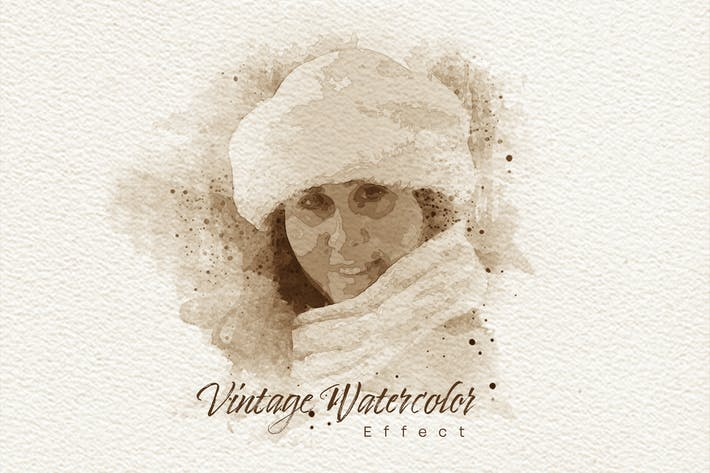 Thumbnail for Vintage-Aquarell-Foto-Effekt-Mockup