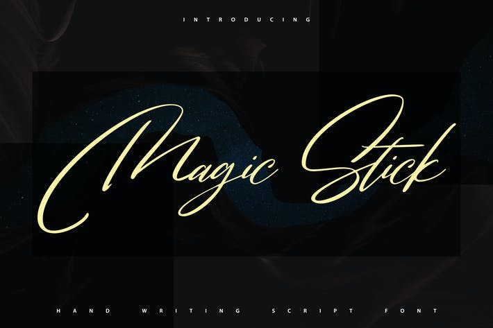 Cover Image For MagicStick | Handwriting Script Font
